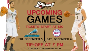 Bayhawks upcoming game 12-5&6