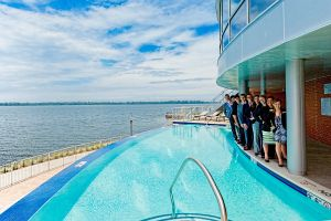 Infinity Pool with Management team